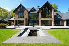 6 bedroom detached house for sale in Fabulous contemporary house in beautiful one acre garden on Leycester Road, Knutsford - Rightmove. House Plans Mansion, Luxury House Plans, Dream House Plans, House Front Design, Modern House Design, Luxury Modern House, Home Building Design, Building A House, Building Ideas