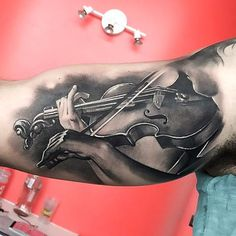 Realistic Violin Tattoo Idea