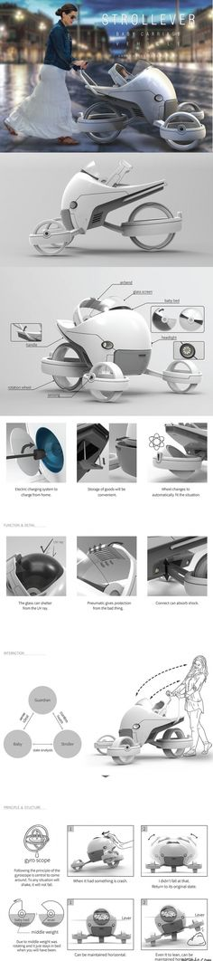 The Strollever may look like a baby stroller from Tron or Oblivion, but it's just a humble little tot carriage designed to keep your earthling safe and sound. #YankoDesign