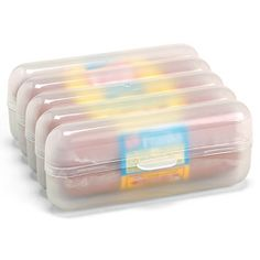 Hotdog stay fresh container. I hate the hard edges meat and cheese get from being opened in the fridge. Need this!