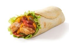 Tabasco McWrap Panama: Fried or grilled chicken in a soft tortilla wrap, salad, bacon and a wicked Tabasco mayonnaise.