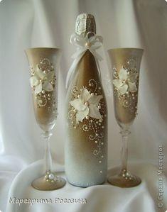 Декор предметов Свадьба Лепка Свадебный набор