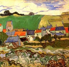 View of Auvers, 1890, Vincent Van Gogh.