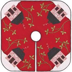 Mary E's Christmas Cottage Tree Skirt Pattern