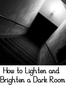 If you have a room that feels dark like a cave, there are ways to lighten and brighten the room and make it feel more inviting.