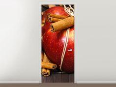 Tür #Tapete Äpfel