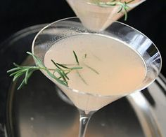 ROSEMARY GRAPEFRUIT MARTINI:  the name speaks for itself!  Definitely a different martini!