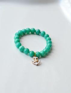 Piękna i elegancka bransoletka z marmuru  w BraceletBySIS na DaWanda.com