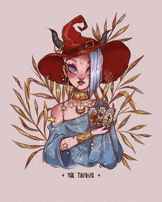 Character Design Girl, Character Art, Art Sketches, Art Drawings, Taurus Art, Gemini Gemini, Zodiac Taurus, Witch Drawing, Cute Art Styles
