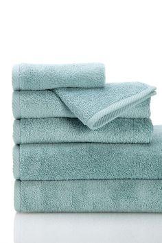 Luxury MicroCotton 6-Piece Plush 600 Gram Weight Towels Set - Aqua on @HauteLook