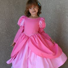 Ariel Pink mermaid  dress for your little one size from 12 months to 8 years Tinkerella Creations. $200.00, via Etsy.-- I must learn how to make this!! Gracie specified- pink ariel princess