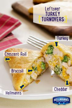 You'll flip for these leftovers! Turkey Turnovers have the big taste of Thanksgiving in one little bite. Made flavorful and delicious with Hellmann's Mayonnaise.