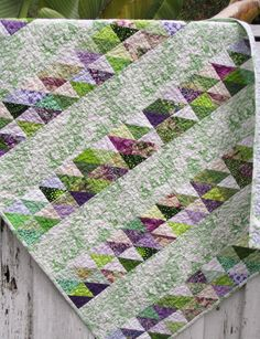 Baby Quilt Baby Gift Shower Gift Green and by marinandcolusa