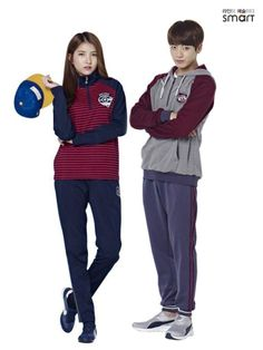 Korean Smart Uniform, Burgundy, Grey, (BTS), (GFriend)