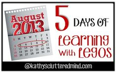 Kathys Cluttered Mind: 5 Days Of Learning With Legos - Lego Story Starters FREE Worksheets