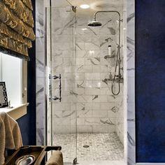 calacatta marble & waterworks fixture