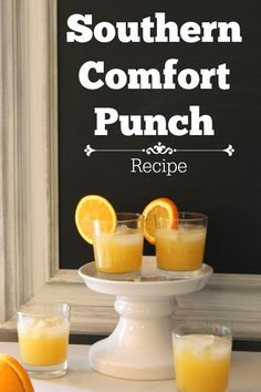 All DIYer's need a go to punch! Try this one! #recipe Southern Comfort Punch Recipe - Refresh Restyle