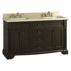 Lanza WF6976-60 Bryon 60 in. Double Bathroom Vanity - WF6976-60
