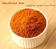 Ruchik Randhap (Delicious Cooking): Mangalorean Vegetable Masala Powder (Spice Blend for Vegetarian Dishes)