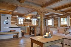 Prodej mlýna v Českém Ráji :: Reality 1788 Chalet Interior, Farmhouse Interior, Cozy Kitchen, Farmhouse Style Kitchen, Simply Home, Home Board, Wooden House, Cozy Cottage, Scandinavian Home
