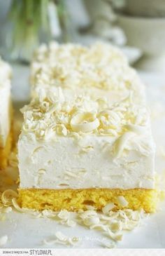 """Ciasto """"Biały puch"""" Składniki na dużą blachę (około 25… na Stylowi.pl"""