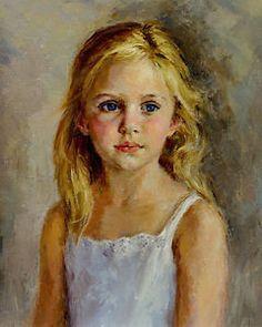 Art Oil painting portrait beautiful little girl portrait on canvas in Art, Wholesale Lots, Paintings   eBay
