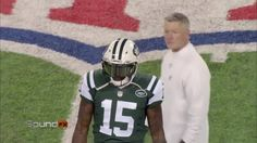 """""""When's the last time somebody asked for a kicker's jersey?!""""  Brandon Marshall really wanted that Adam Vinatieri  jersey swap. #SoundFX"""