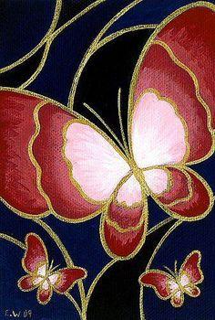 Art: Cloisonne Butterfly 1 by Artist Elaina Wagner