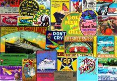 CUTOUT EMBELLISHMENTS, Clip Art Grab Bag, Scrapbook Ephemera, Vintage Advertising, Antique Reproductions, Ephemera, Collage Cutouts, Set 106 by retrowallart on Etsy