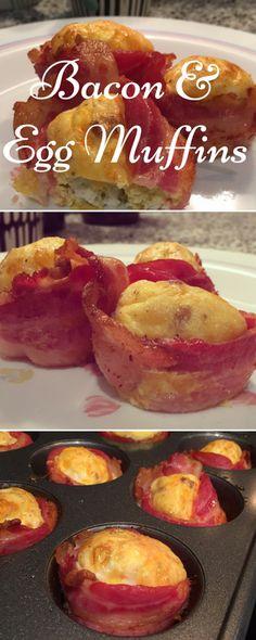 Basically Joy: Quick & Easy Bacon & Egg Muffins: Breakfast on the Run!