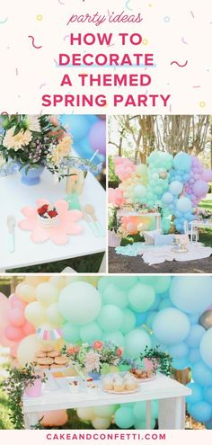 How to Decorate Spring Party | Party Ideas & Hosting Tips - Spring is almost here & that means it's time for Spring parties! Whether you're looking for Spring party ideas for kids or for adults, this enchanting Spring party inspiration will give you the Spring party theme idea you need to throw an awesome party! spring party ideas decoration | diy spring party ideas | spring party ideas for women | spring party decorations | Cake & Confetti #spring #springparty #springdecorations #diyspring