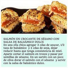 SALMÓN EN CROCANTE DE SÉSAMO CON SALSA DE BALSÁMICO DULCE
