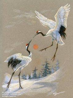 japanese crane pencil drawing ile ilgili görsel sonucu