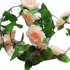 Eyourlife Kunstrose künstliche Rosenblüten Rose Vine Rose Blatt Rebe Hochzeit Zuhause Garten Deko Champagner Eyourlife http://www.amazon.de/dp/B00JWFIHAO/ref=cm_sw_r_pi_dp_L5-Wub1PJ0C00