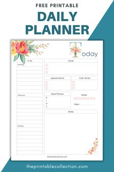 Free Meal Planner, Daily Planner Pages, Meal Planner Printable, Daily Printable, Printable Calendars, School Planner, Life Planner, Happy Planner, Planner Ideas