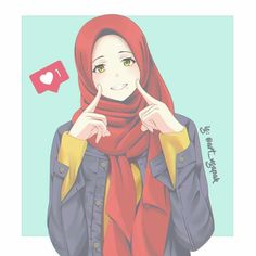 Ideas Wall Paper Cartoon Couple Illustrations For 2020 Cool Anime Girl, Anime Art Girl, Anime Girls, Girl Cartoon, Cute Cartoon, Laika Studios, Hijab Drawing, Islamic Cartoon, Hijab Cartoon