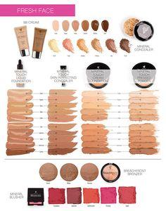 Younique 3D Mascara & Cosmetics FALL COLOR CHARTS