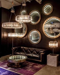 Light up your houses in this festive season with the Inception mirror by Timothy Oulton Infinity Mirror Table, Infinity Spiegel, Infinite Mirror, Mirror Illusion, Mirror Inspiration, Interior Inspiration, Led Mirror, Mirror Bathroom, Bar Interior