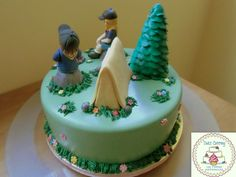 Tarta Boy Scouts Camping Cake https://www.facebook.com/Dulcecatering.mesasdulces?ref=hl