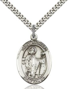 St. Richard Sterling Silver 1""