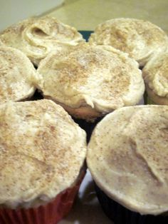 "Snickerdoodle Cupcakes - recipe from ""Betty Crocker Big Book of Cupcakes."""