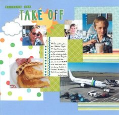 2012-01-20 Waiting for Take Off  Layout for Scrapbook Challenges Sketch 290
