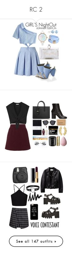 """""""RC 2"""" by zeina-amrnasr ❤ liked on Polyvore featuring Miss Selfridge, WithChic, Abcense, Charlotte Olympia, Versace, girlsnightout, Maison Margiela, Topshop, Alice + Olivia and Body Bauble"""