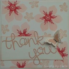 Thank You Card using SU thinlits