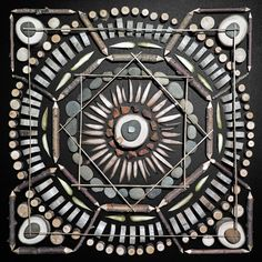 fer1972:  Mandalas made of Stones, Branches and nature materials by Matt W. Moore