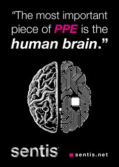 Our most important piece of Personal Protective Equipment is our #brain. Have you switched it on today? #safety