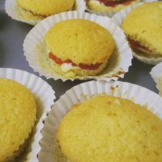 Nikkipedia: As well as the vanilla sprinkle cupcakes I also made some Victoria sandwich cupcakes #baking #bake #baker #food #cooking #cake #cakes #cupcakes #victoriasponge #victoriasandwich #buttercream #strawberryjam