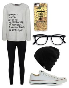 """""""Love"""" by fangirlmendes on Polyvore featuring Casetify, Boohoo, Ally Fashion and Converse"""