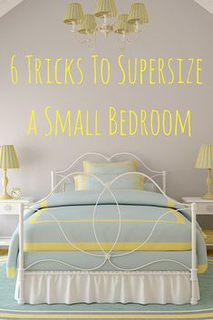 Want to make a small bedroom look bigger? Making a few smart choices in terms of furniture, color, and lighting can make all the difference in transforming your small bedroom into the true sanctuary…More Big Bedrooms, Small Room Bedroom, Modern Bedroom, Bedroom Decor, Small Bedroom Hacks, Contemporary Bedroom, Master Bedroom, Budget Bedroom, Trendy Bedroom