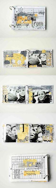 color palette: grigio, bianco, nero, giallo